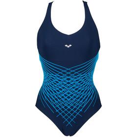 arena Maia Criss Cross Back Traje de baño de una pieza Copa C Mujer, azul